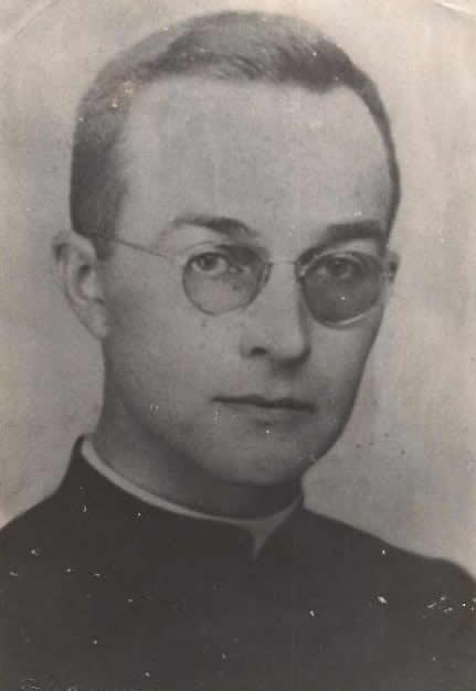 Padre Huberto Bruening na juventude